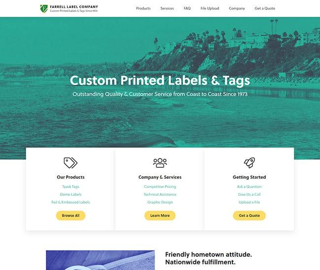 Screen shot of WordPress website design and development