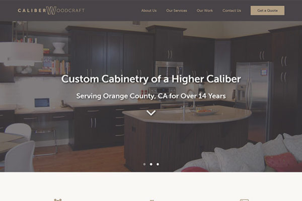 Caliber Woodcraft website
