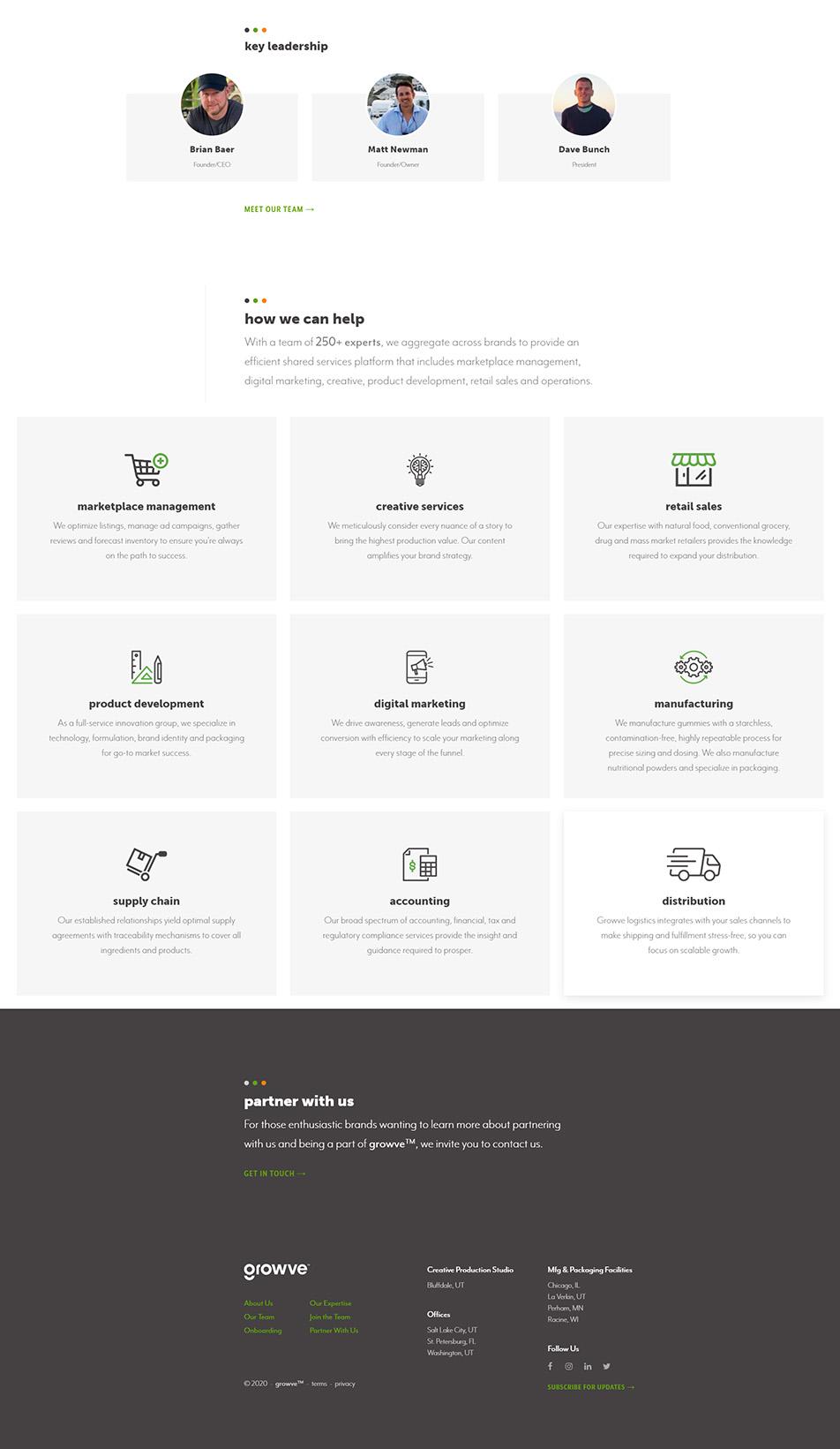 growve website homepage