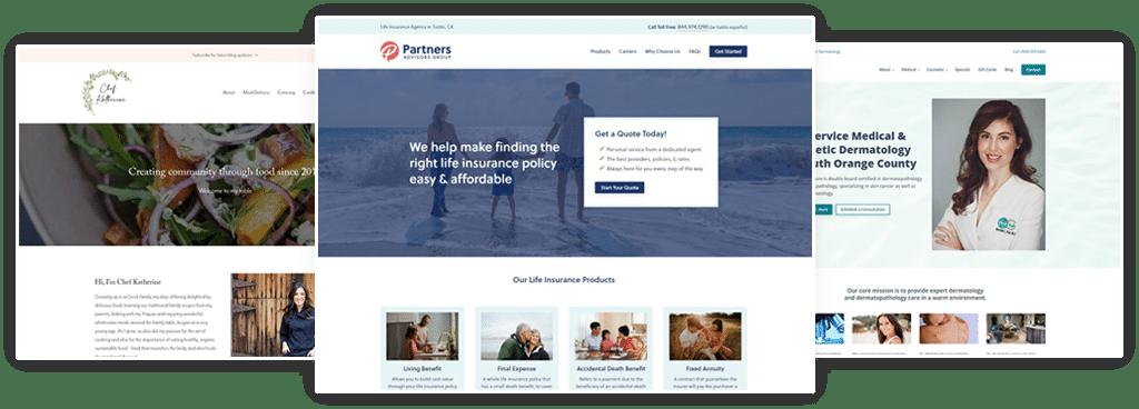 Latest WordPress web design and development work